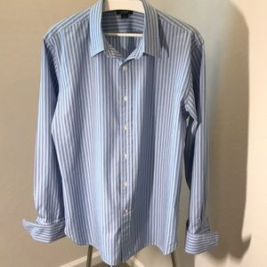 J. Crew Men's Long Sleeve Blue Stripe Shirt